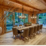 Rustic Ash wire brushed with a natural oil finish, Private Residence Martis Camp, Copyright Vance Fox