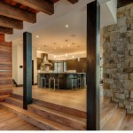 Thermo Treated Rustic Oak with Custom Natural Oil, Private Residence Martis Camp, Copyright Vance Fox