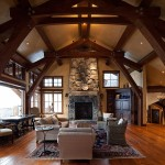 Rustic Ash, handscraped with custom stain, Private Residence Squaw Valley, Copyright Nicholas Rab