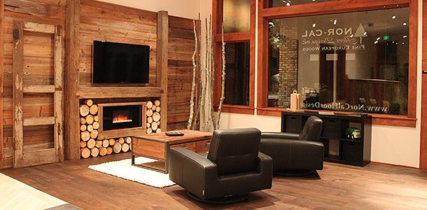 Grand opening celebration of Nor-Cal Floor Design's wood flooring showroom