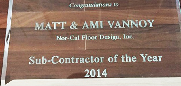 Nor-Cal Floor Designs Co-Wins Sub-Contractor of the Year Award